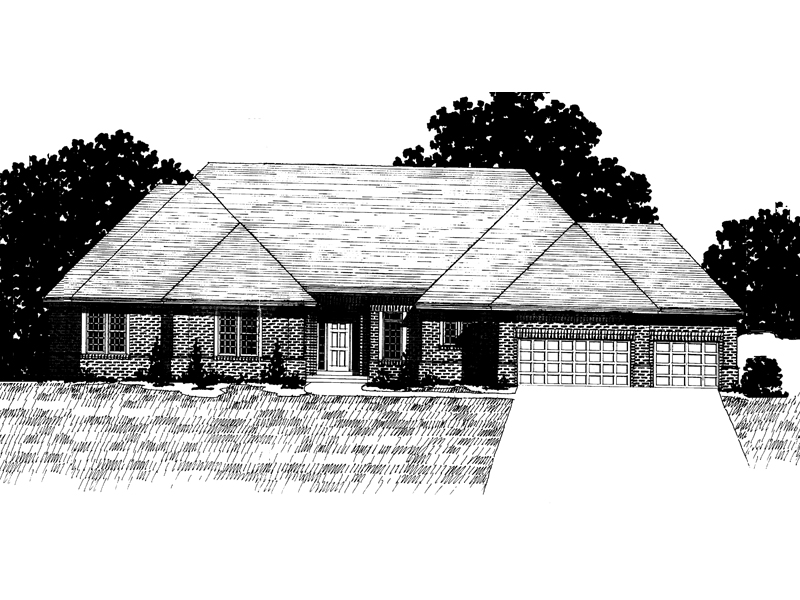 Southern House Plan Front of Home - 072D-0919 | House Plans and More