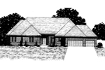 Ranch House Plan Front of Home - 072D-0919 | House Plans and More