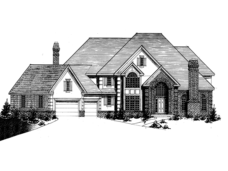 European House Plan Front of Home - 072D-0922 | House Plans and More