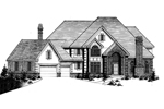 English Tudor House Plan Front of Home - 072D-0922 | House Plans and More