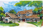 Craftsman House Plan Front of Home - 072D-0924 | House Plans and More