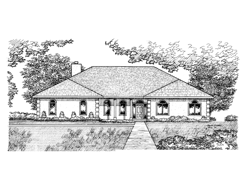 Southern House Plan Front of Home - 072D-0925 | House Plans and More