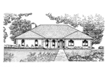 Ranch House Plan Front of Home - 072D-0925 | House Plans and More