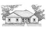 Ranch House Plan Front of Home - 072D-0926 | House Plans and More