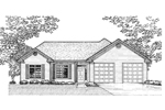 Traditional House Plan Front of Home - 072D-0927 | House Plans and More