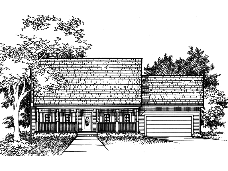 Traditional House Plan Front of Home - 072D-0928 | House Plans and More