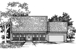Saltbox House Plan Front of Home - 072D-0928 | House Plans and More
