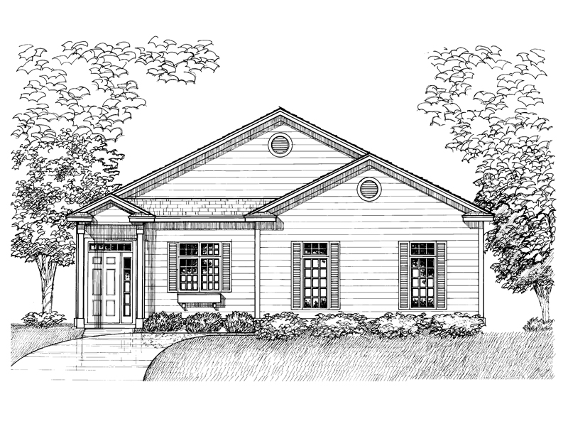 Traditional House Plan Front of Home - 072D-0929 | House Plans and More