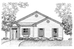 Ranch House Plan Front of Home - 072D-0929 | House Plans and More