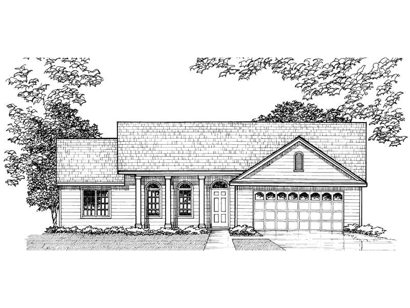 Country House Plan Front of Home - 072D-0930 | House Plans and More