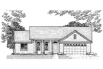 Ranch House Plan Front of Home - 072D-0930 | House Plans and More