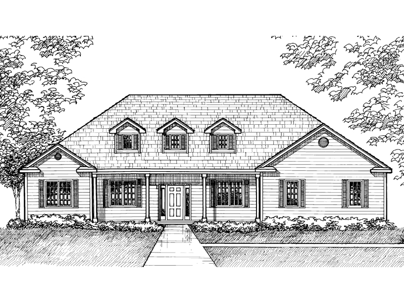 Southern House Plan Front of Home - 072D-0931 | House Plans and More