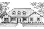 Ranch House Plan Front of Home - 072D-0931 | House Plans and More