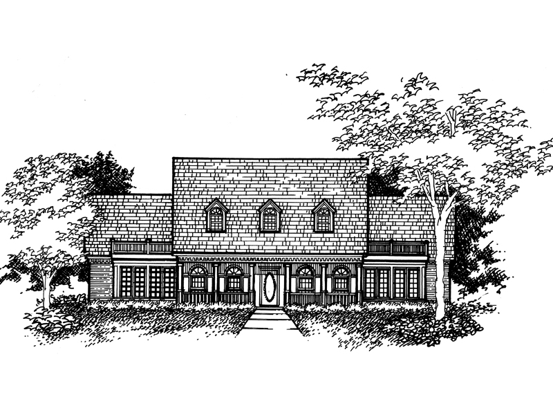 Traditional House Plan Front of Home - 072D-0932 | House Plans and More