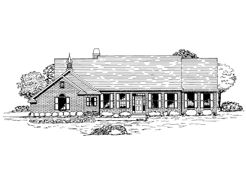 Southern House Plan Front of Home - 072D-0935 | House Plans and More