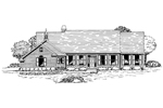 Colonial House Plan Front of Home - 072D-0935 | House Plans and More