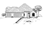 Adobe and Southwestern Plan Front of Home - 072D-0936 | House Plans and More