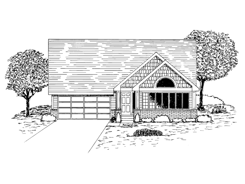 Ranch House Plan Front of Home - 072D-0937 | House Plans and More