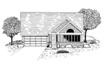 Traditional House Plan Front of Home - 072D-0937 | House Plans and More