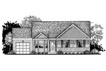 Ranch House Plan Front of Home - 072D-0938 | House Plans and More