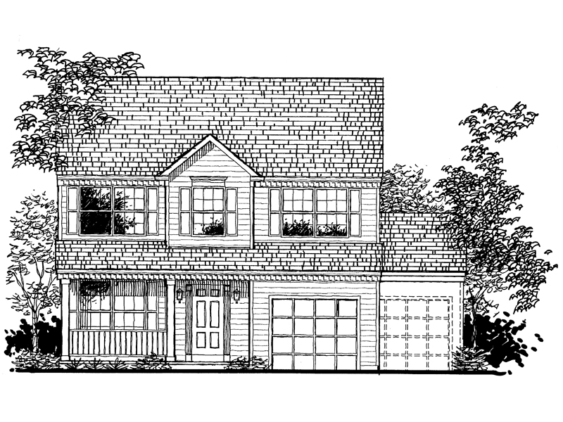 Country House Plan Front of Home - 072D-0939 | House Plans and More