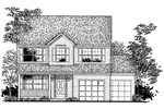 Colonial Floor Plan Front of Home - 072D-0939 | House Plans and More