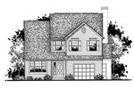 Traditional House Plan Front of Home - 072D-0940 | House Plans and More