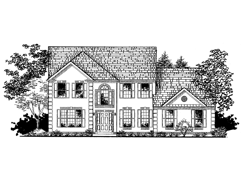 Traditional House Plan Front of Home - 072D-0941 | House Plans and More