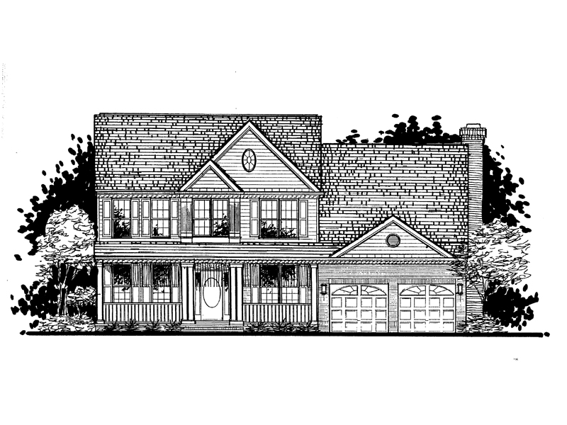 Colonial Floor Plan Front of Home - 072D-0942 | House Plans and More