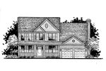 Colonial House Plan Front of Home - 072D-0942 | House Plans and More
