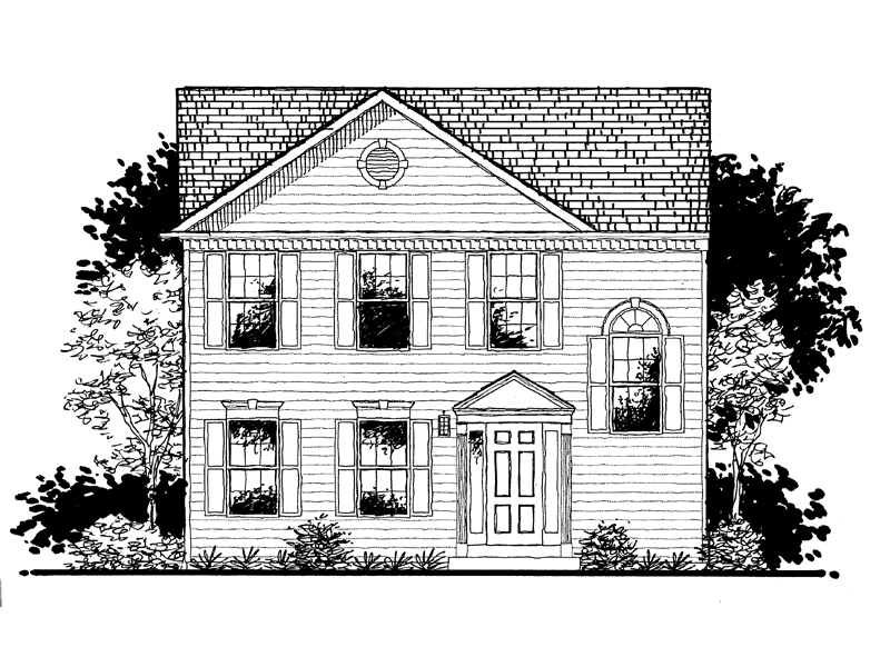 Georgian House Plan Front of Home - 072D-0943 | House Plans and More