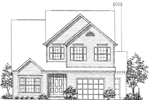Traditional House Plan Front of Home - 072D-0944 | House Plans and More