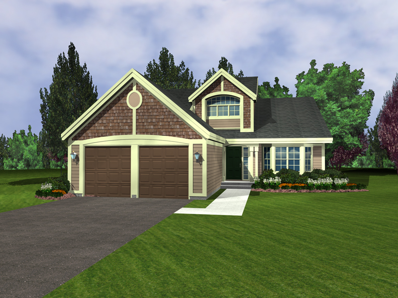Bungalow House Plan Front of Home - 072D-0946 | House Plans and More