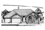 Country House Plan Front of Home - 072D-0947 | House Plans and More