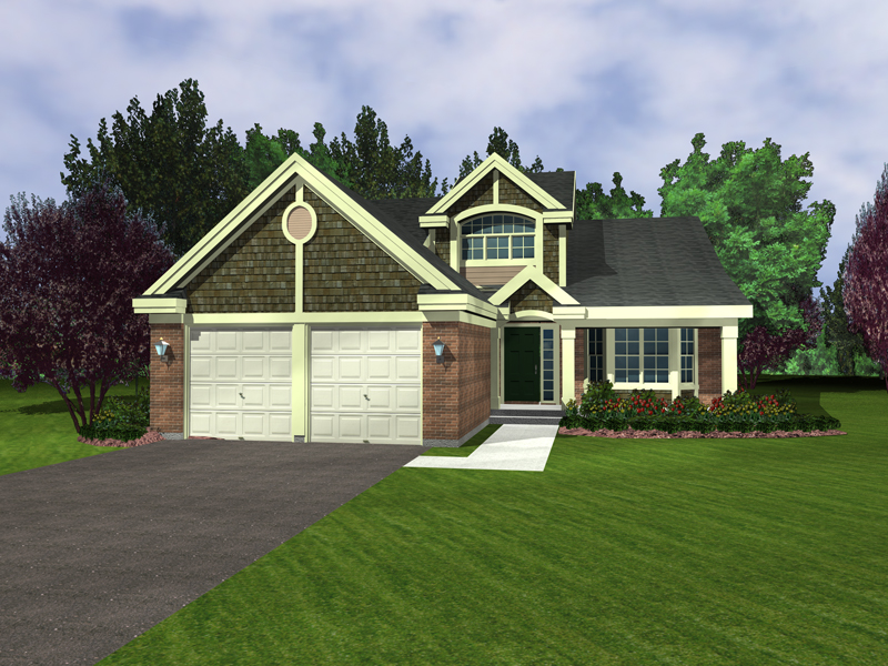 Bungalow House Plan Front of Home - 072D-0948 | House Plans and More