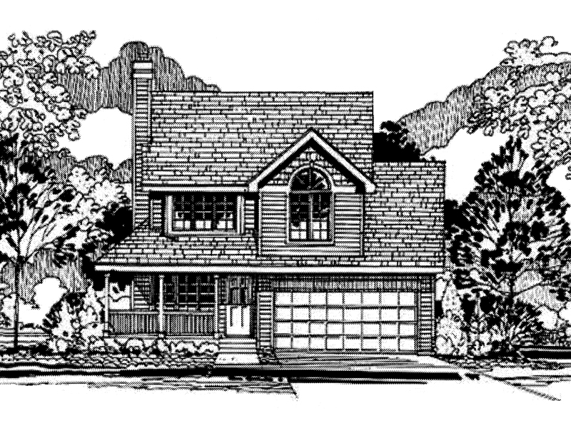 Farmhouse Home Plan Front of Home - 072D-0949 | House Plans and More