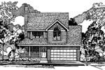 Shingle House Plan Front of Home - 072D-0949 | House Plans and More