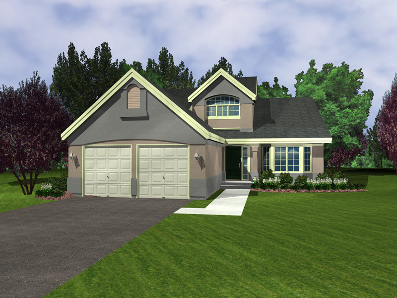 Sunbelt Home Plan Front of Home - 072D-0950 | House Plans and More