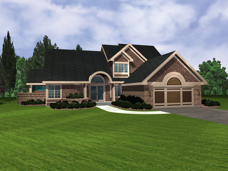 Shingle House Plan Front of Home - 072D-0951 | House Plans and More