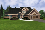 Traditional House Plan Front of Home - 072D-0951 | House Plans and More