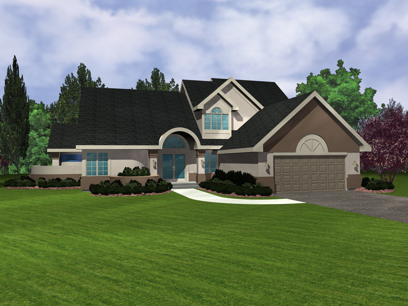 Sunbelt Home Plan Front of Home - 072D-0953 | House Plans and More