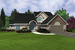 Modern House Plan Front of Home - 072D-0953 | House Plans and More