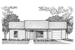 Cabin and Cottage Plan Front of Home - 072D-0955 | House Plans and More