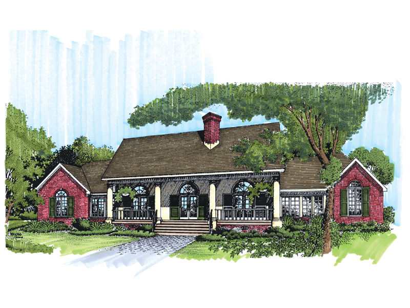 Southern House Plan Front of Home - 072D-0956 | House Plans and More