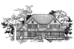 Traditional House Plan Front of Home - 072D-0957 | House Plans and More