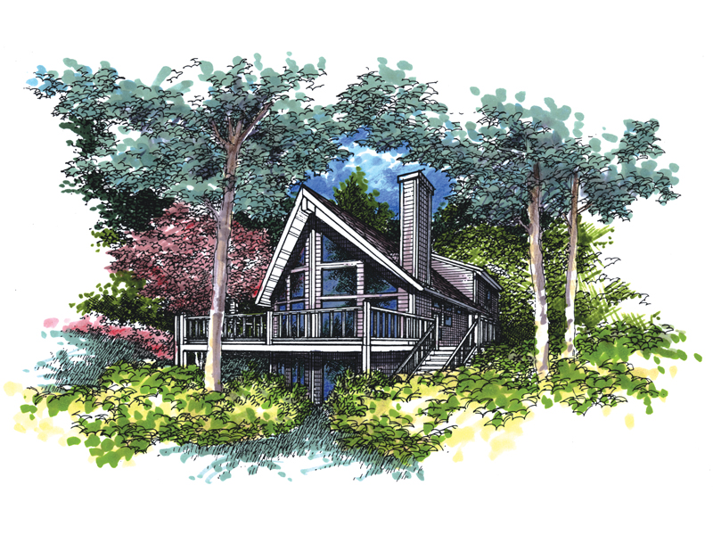 Waterfront Home Plan Front of Home - 072D-0958 | House Plans and More