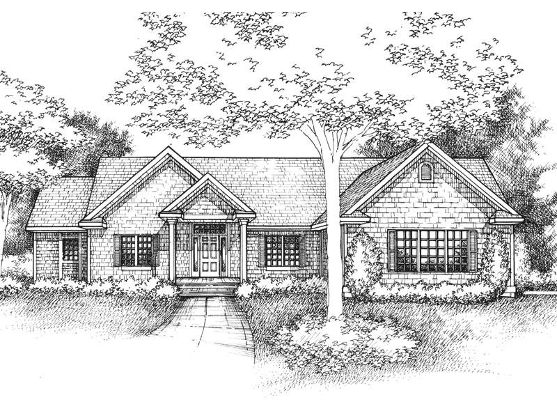 Craftsman House Plan Front of Home - 072D-0959 | House Plans and More