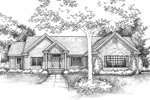 Ranch House Plan Front of Home - 072D-0959 | House Plans and More