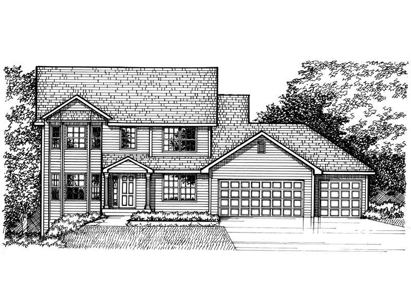 Traditional House Plan Front of Home - 072D-0964 | House Plans and More