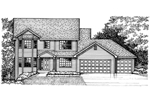 Neoclassical Home Plan Front of Home - 072D-0964 | House Plans and More